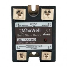 Твердотельное реле Maxwell MS-1AA4825 (AC-AC; 25A, 480V AC)