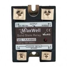 Твердотельное реле Maxwell MS-1AA4860 (AC-AC; 60A, 480V AC)