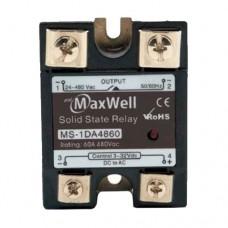 Твердотельное реле Maxwell MS-1DA4860 (DC-AC; 60A, 480V AC)