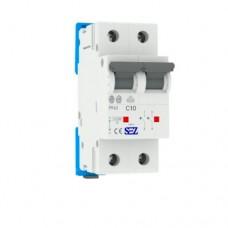 Автоматический выключатель SEZ PR62 C10A 2P 10kA